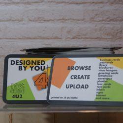 4U2Print business cards